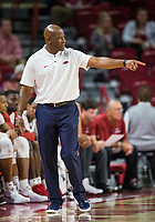 NWA Democrat-Gazette/BEN GOFF @NWABENGOFF <br /> Mike Anderson, Arkansas head coach, in the first half vs Tusculum Friday, Oct. 26, 2018, during an exhibition game in Bud Walton Arena in Fayetteville.