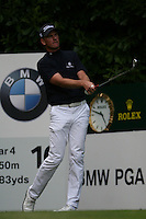Robert Karlsson tees off on the 16th hole during the 3rd round of the 2008 BMW PGA Championship at Wentworth Club, Surrey, England 24th May 2008 (Photo by Eoin Clarke/GOLFFILE)