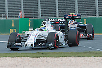 March 20, 2016: Felipe Massa (BRA) #19 from the Williams Martini Racing team at turn one of the 2016 Australian Formula One Grand Prix at Albert Park, Melbourne, Australia. Photo Sydney Low