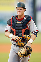 Mississippi catcher Clint Sammons (15) on defense versus Chattanooga at AT&T Field in Chattanooga, TN, Wednesday, July 26, 2007.
