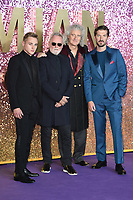 "Ben Hardy, Roger Taylor, Brian May and Gwilyn Lee<br /> arriving for the ""Bohemian Rhapsody"" World premiere at Wembley Arena, London<br /> <br /> ©Ash Knotek  D3455  23/10/2018"