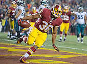 Washington Redskins fullback Darrel Young (36) scores a touchdown in the third quarter against the Philadelphia Eagles at FedEx Field in Landover, Maryland on Saturday, December 20, 2014.  The Redskins won the game 27 - 24.<br /> Credit: Ron Sachs / CNP