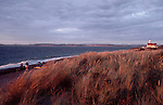 Port Townsend, Beach walkers, Point Wilson, Fort Worden, Puget Sound, Strait of Juan de Fuca, Washington State,.