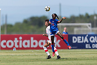 Bradenton, FL - Sunday, June 12, 2018: Betina Petit prior to a U-17 Women's Championship 3rd place match between Canada and Haiti at IMG Academy. Canada defeated Haiti 2-1.