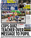 Edinburgh Evening News, front page.<br />