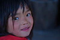 Young girl at Traditional Village of Sopsokha, Punakha District, Bhutan