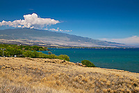 Puako Bay and Hualalai Volcanic Mountain, Kohala, Big Island.