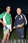 Paul Grady capt of the Ballyduff senior hurling team gets advice from trainer Jerry Wallacve in Traing on Tuesday evening in Ballyduff GAA grounds...................