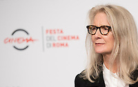 La regista britannica Sally Potter posa durante un photocall per la presentazione del film &quot;The Party&quot; alla Festa del Cinema di Roma , 27 0ttobre 2017.<br />