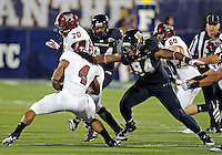 Florida International University football player defensive lineman James Jones (94)  plays against Troy University on October 26, 2011 at Miami, Florida. FIU won the game 23-20 in overtime. .