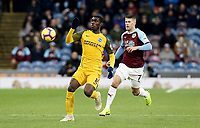 Brighton & Hove Albion's Yves Bissouma under pressure from Burnley's Johann Gudmundsson<br /> <br /> Photographer Rich Linley/CameraSport<br /> <br /> The Premier League - Burnley v Brighton and Hove Albion - Saturday 8th December 2018 - Turf Moor - Burnley<br /> <br /> World Copyright © 2018 CameraSport. All rights reserved. 43 Linden Ave. Countesthorpe. Leicester. England. LE8 5PG - Tel: +44 (0) 116 277 4147 - admin@camerasport.com - www.camerasport.com