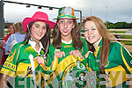 JIGSAW FUN: Dressed up as Kerry players for the Fancy Dress Race in aid of the Rose of Tralee Festival and Jigsaw fundraiser at the Kingdom Greyhound Stadium on Saturday l-r: Laura Daly, The Kerris, Keeva O'Sullivan, Ballyard and Laura O'Shea, Kielduff.