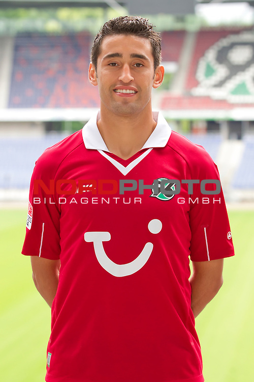 19.07.2012, AWD Arena, Hannover, Spielerpraesentation Hannover 96, im Bild Karim Haggui (3, Hannover 96)<br /> <br /> // Soccer Players Hannover 96, AWD Arena, Hannover, Germany, on 2012/07/19<br /> Foto &copy; nph / Sielski *** Local Caption ***