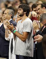 Spain's player injured Ricky Rubio encourages his colleagues during friendly match Spain v USA.July 24,2012. (ALTERPHOTOS/Acero) /NortePhoto.com<br /> **CREDITO*OBLIGATORIO** *No*Venta*A*Terceros*<br /> *No*Sale*So*third* ***No*Se*Permite*Hacer Archivo***No*Sale*So*third*©Imagenes*con derechos*de*autor©todos*reservados*.