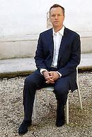 Lo scrittore e giornalista inglese Edward St. Aubyn ritratto in occasione del Festival Internazionale delle Letterature a Roma, 10 giugno 2013.<br /> British writer and journalist Edward St. Aubyn portrayed in occasion of the International Literature Festival, in Rome, 10 June 2013.<br /> UPDATE IMAGES PRESS/Riccardo De Luca