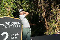 Ross Fisher (ENG) in action on the 2nd hole during the third round of the 76 Open D'Italia, Olgiata Golf Club, Rome, Rome, Italy. 12/10/19.<br /> Picture Stefano Di Maria / Golffile.ie<br /> <br /> All photo usage must carry mandatory copyright credit (© Golffile | Stefano Di Maria)