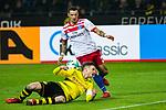 10.02.2018, Signal Iduna Park, Dortmund, GER, 1.FBL, Borussia Dortmund vs Hamburger SV, <br /> <br /> im Bild | picture shows:<br /> Lukasz Piszczek (Borussia Dortmund #26) kl&auml;rt vor Sejad Salihovic (HSV #23), <br /> <br /> <br /> Foto &copy; nordphoto / Rauch