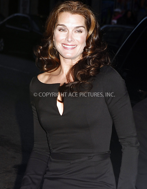 WWW.ACEPIXS.COM . . . . .  ....March 17 2008, New York City....Actress Brooke Shields made an appearance at the 'Late Show with David Letterman' at the Ed Sullivan Theatre in midtown Manhattan....Please byline: AJ Sokalner - ACEPIXS.COM..... *** ***..Ace Pictures, Inc:  ..te: (646) 769 0430..e-mail: info@acepixs.com..web: http://www.acepixs.com