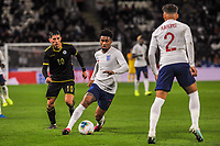 England Under 21's forward Reiss Nelson (7) turns with the ball during the UEFA Euro U21 Qualifying match between England U21 & Kosovo U21 at KCOM Craven Park, Hull, England on 9 September 2019. Photo by Stephen Buckley / PRiME Media Images.