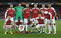 The Arsenal team group<br /> <br /> Photographer Rob Newell/CameraSport<br /> <br /> Football - UEFA Europa League Round of 16 Leg 2 - Arsenal v Rennes - Thursday 14th March 2019 - The Emirates - London<br />  <br /> World Copyright © 2018 CameraSport. All rights reserved. 43 Linden Ave. Countesthorpe. Leicester. England. LE8 5PG - Tel: +44 (0) 116 277 4147 - admin@camerasport.com - www.camerasport.com