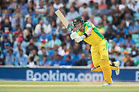 Steve Smith (Australia) pushes into the on side for a single during India vs Australia, ICC World Cup Cricket at The Oval on 9th June 2019