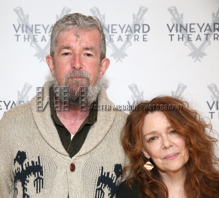 "Director Les Waters and actress Deirdre O'Connell during the cast photo call for the Vineyard Theatre Production of Dana H."" at the Vineyard Theatre Rehearsal Studios on February 4, 2020 in New York City."