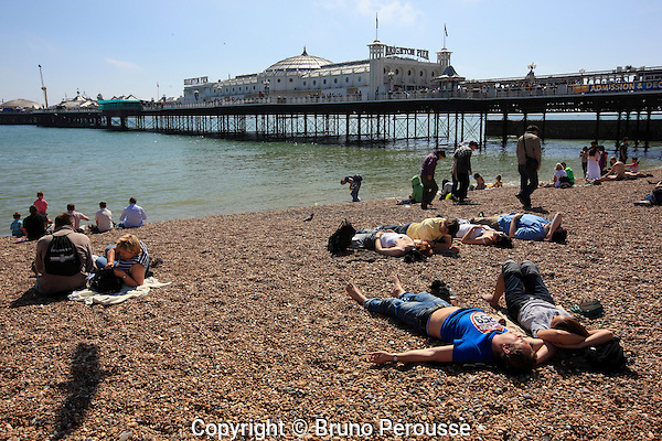 Royaume Uni, Grande Bretagne, Angleterre, East Sussex, Brighton, plage de Brighton, Brighton Pier (Palace Pier)//United Kingdom, Great Britain, England, East Sussex, Brighton, Brighton beach, Brighton Pier (Palace Pier)