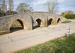 Medieval packhorse bridge at Moulton, Suffolk, England