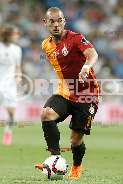 Galatasaray's Wesley Sneijder during XXXVI Santiago Bernabeu Trophy. August 18,2015. (ALTERPHOTOS/Acero)