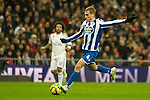 Deportivo de la Coruna's Alex Bergantinos during 2014-15 La Liga match between Real Madrid and Deportivo de la Coruna at Santiago Bernabeu stadium in Madrid, Spain. February 14, 2015. (ALTERPHOTOS/Luis Fernandez)