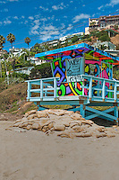 Topanga, Beach, Lifeguard, Tower #1, Ocean, Waves, Socal Beach, Lifeguard Stations, CA, Geometric, shapes, Lifeguard Towers,  Summer of Color exhibit, The flower, beauty, core design, elements, environment, symbol of joy, universal, youth, Seaside City, South Bay, Southern California