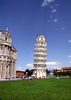 The famous leaning tower of Pisa. Italy.