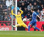 Nederland, Eindhoven, 14 april 2012.Eredivisie .Seizoen 2011-2012.PSV-AZ.Roy Beerens van AZ scoort de 1-2
