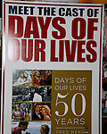 """Cast of Days Of Our Lives - Diedre Hall """"Marlena Evans"""", Stephen Nichols """"Steven Patch Brady"""", Thaao Penghlis """"Andre DiMera"""", Billy Flynn """"Chad DiMera"""", Kate Mansi """"Abigail Devereaux"""", Kristian Alfonso """"Hope Williams Brady"""", Galen Gering """"Rafe Hernandez"""", Lauren Koslow """"Kate Roberts"""" sign book """"Days Of Our Lives 50 Years"""" by Greg Meng - author & co-executive producer on October 27, 2015 at Books & Greetings, Northvale, New Jersey. (Photo by Sue Coflin/Max Photos)"""