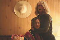 Halloween (2018)<br /> Jamie Lee Curtis &amp; Judy Greer<br /> *Filmstill - Editorial Use Only*<br /> CAP/MFS<br /> Image supplied by Capital Pictures