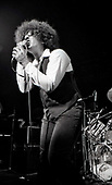 The Dictators - vocalist Richard Manitoba - performing live at the Roundhouse in London UK - 02 Nov 1977.  Photo credit: George Bodnar Archive/IconicPix