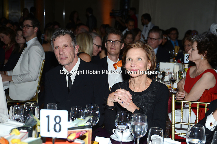 Michael Cunningham and Lynn Nesbit attend the 2013 National Book Awards Dinner and Ceremony on November 20, 2013 at Cipriani Wall Street in New York City.