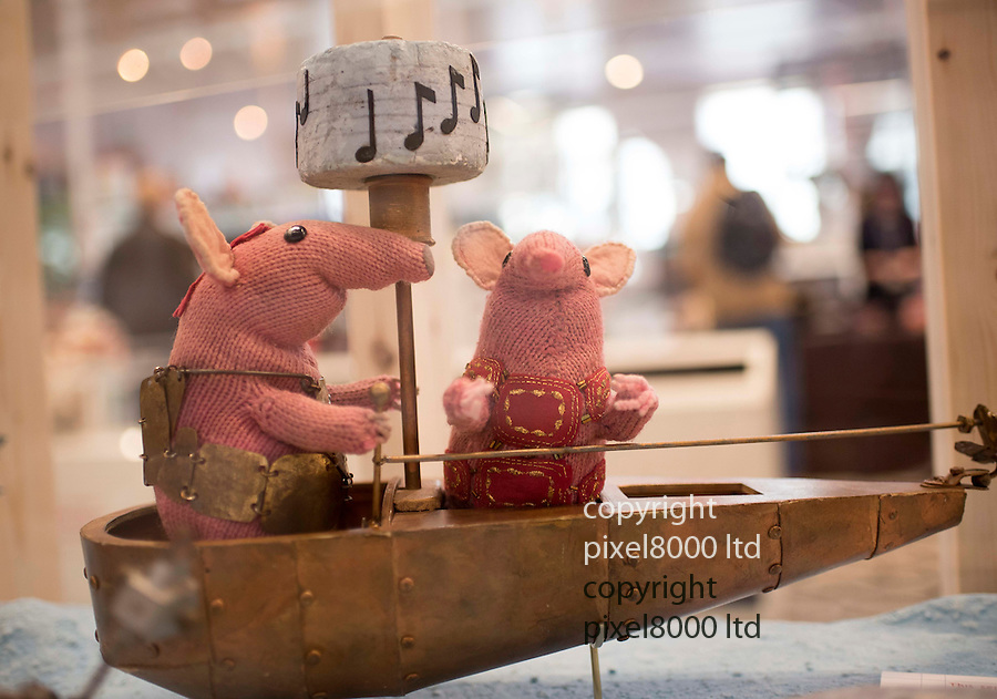 Pic shows:  The Clangers<br /> <br /> <br /> Bagpuss and Clangers <br /> New exhibition at V&amp;A Museum of Childhood, London<br /> <br /> Created by Oliver Postgate at Peter Firmin of Smallfilms<br /> <br /> <br /> <br /> <br /> Pic by Gavin Rodgers/Pixel 8000 Ltd