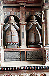 Walrond monument in Lady Chapel, St Michael's Church, Aldbourne, Wiltshire, England memorial to two brothers who died in 1614 and 1617,