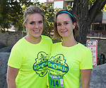 Kayla Herrera and Diana Linton during the Reno 10 Mile Run in downtown Reno on Sunday, August 13, 2017.