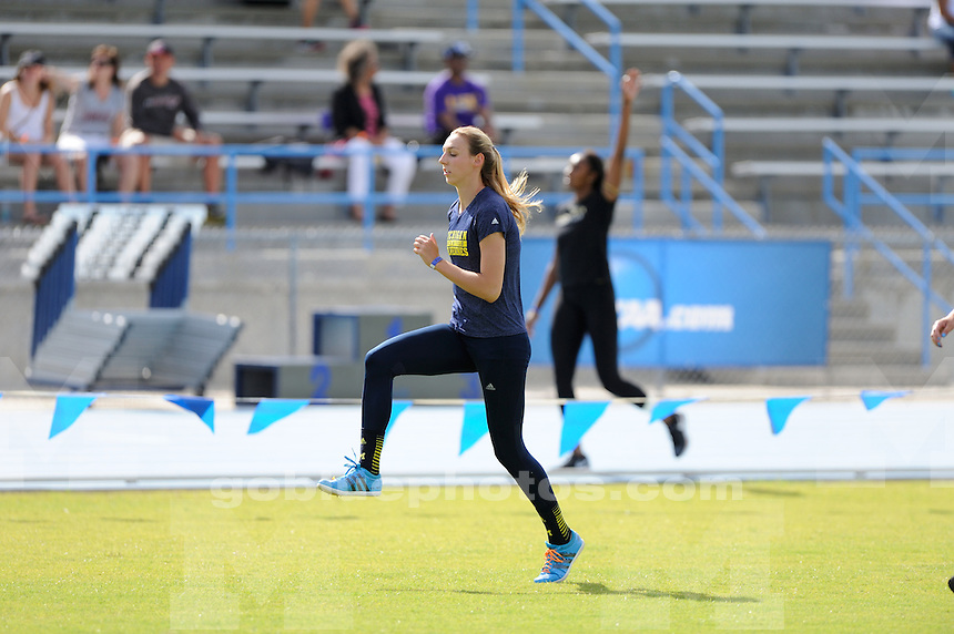 The University of Michigan women's track and field team compete at the 2015 East Regional NCAA Track and Field Championships. Jacksonville, FL. May 30, 2015
