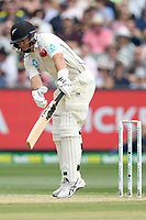28th December 2019; Melbourne Cricket Ground, Melbourne, Victoria, Australia; International Test Cricket, Australia versus New Zealand, Test 2, Day 3; Ross Taylor of New Zealand is hit in the shoulder - Editorial Use