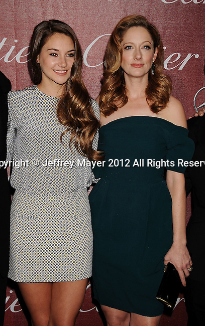 PALM SPRINGS, CA - JANUARY 07: Shailene Woodley and Judy Greer arrive at the 2012 Palm Springs Film Festival Awards Gala at the Palm Springs Convention Center on January 7, 2012 in Palm Springs, California.