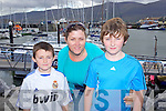 TRAVELLED: JP Byrne with Paula and Sean Conlan, at the Fenit Lifeboat Regatta on Sunday..