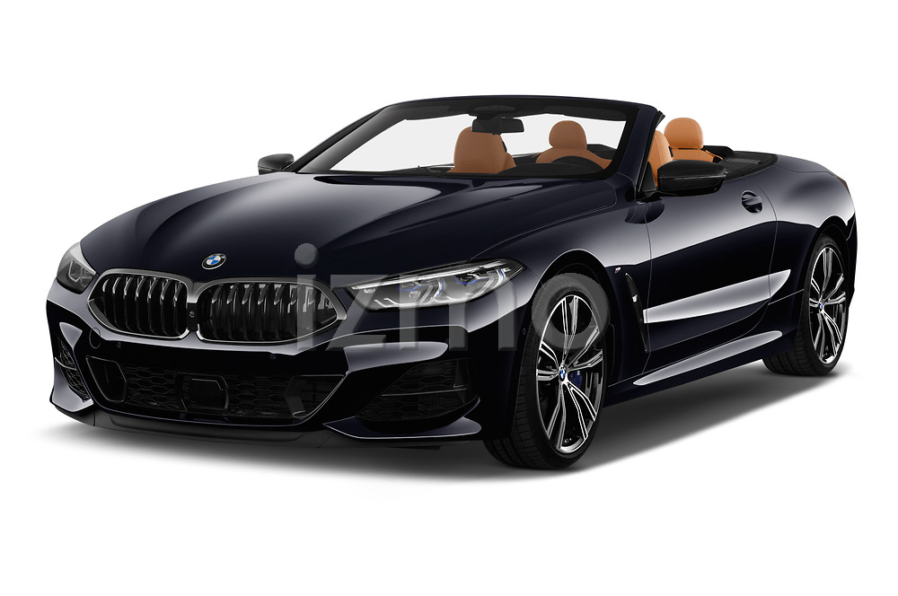 2019 BMW 8-Series - 2 Door Convertible Angular Front stock photos of front three quarter view