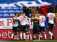 Bolton Wanderers' Gary O'Neil celebrates scoring his side's second goal with team mates <br /> <br /> Photographer Andrew Kearns/CameraSport<br /> <br /> The EFL Sky Bet Championship - Bolton Wanderers v Millwall - Saturday 9th March 2019 - University of Bolton Stadium - Bolton <br /> <br /> World Copyright © 2019 CameraSport. All rights reserved. 43 Linden Ave. Countesthorpe. Leicester. England. LE8 5PG - Tel: +44 (0) 116 277 4147 - admin@camerasport.com - www.camerasport.com