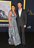 "LOS ANGELES, CA. September 24, 2018: Lea Michele & Guest at the Los Angeles premiere for ""A Star Is Born"" at the Shrine Auditorium.<br /> Picture: Paul Smith/Featureflash"