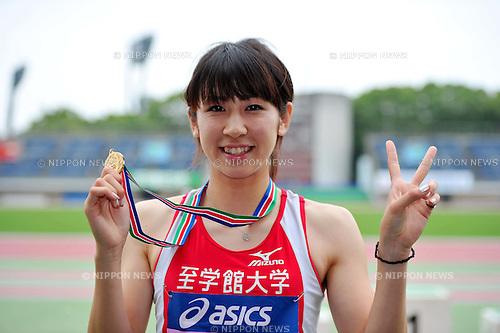 Saori Imai (JPN), JUNE 19th, 2011 - Athletics : Japan Student Athletics National Championships Individual 2011, Women's 200m final at Hiratsuka Athletic Stadium, Kanagawa, Japan. (Photo by Jun Tsukida/AFLO SPORT) [0003] .