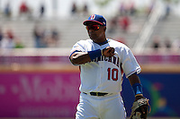 7 March 2009: #10 Miguel Tejada of the Dominican Republic is seen during the 2009 World Baseball Classic Pool D match at Hiram Bithorn Stadium in San Juan, Puerto Rico. Netherlands pulled off a huge upset in their World Baseball Classic opener with a 3-2 victory over Dominican Republic.