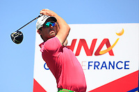 Alexander Bjork (SWE) on the 3rd tee during Round 1 of the HNA Open De France at Le Golf National in Saint-Quentin-En-Yvelines, Paris, France on Thursday 28th June 2018.<br /> Picture:  Thos Caffrey | Golffile